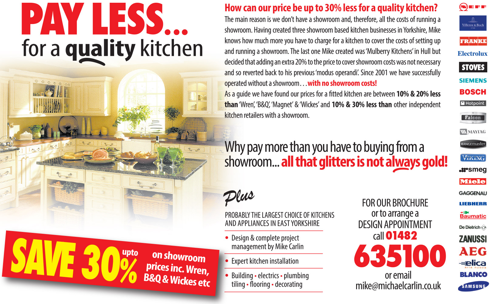 Pay less for a quality kitchen
